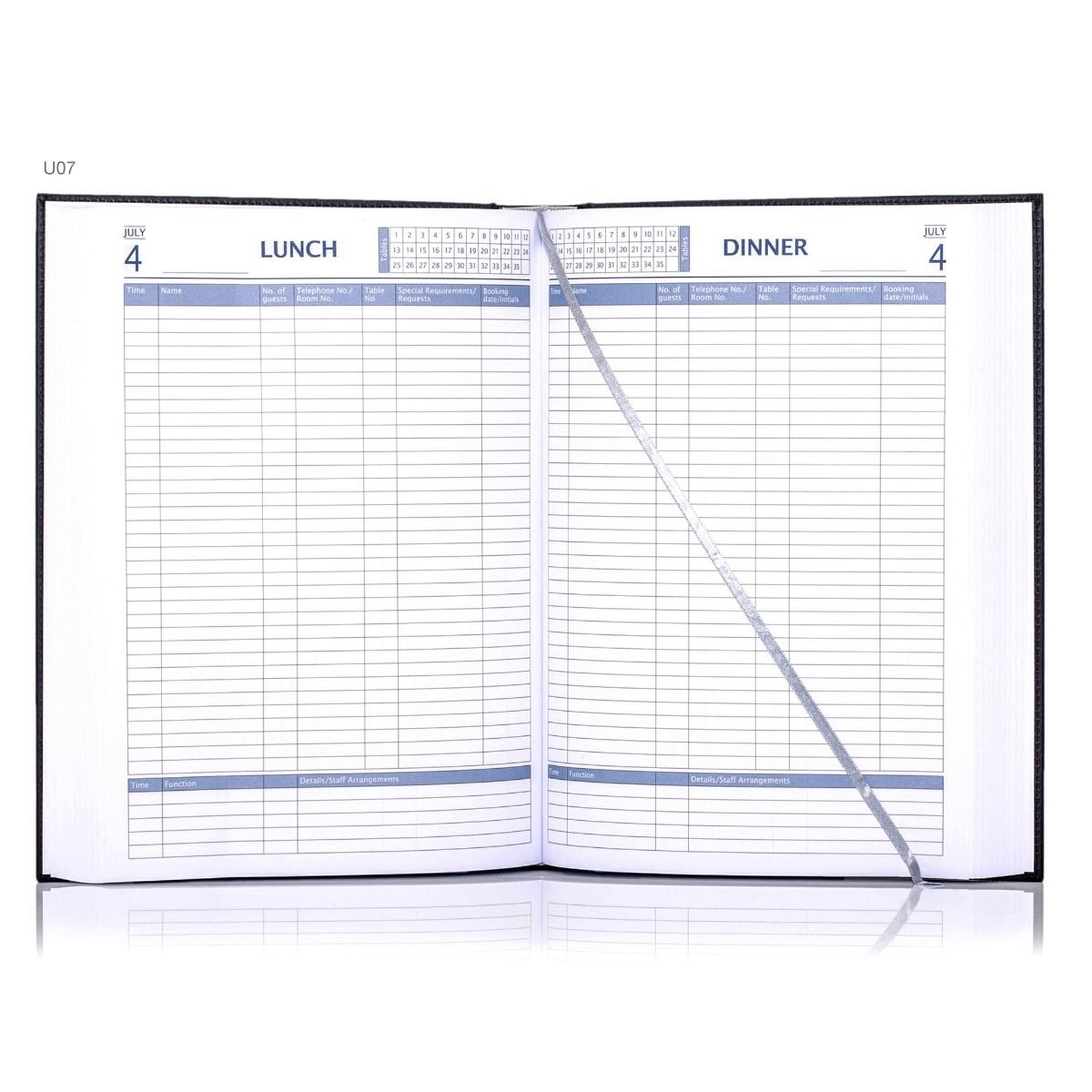Restaurant Booking Diary Throughout Restaurant Cancellation Policy Template