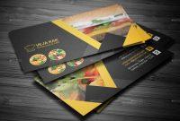 Restaurant Business Cardvejakakstudio  Graphicriver in Restaurant Business Cards Templates Free