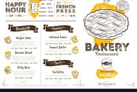 Restaurant Cafe Bakery Menu Template Royalty Free Vector throughout Free Bakery Menu Templates Download