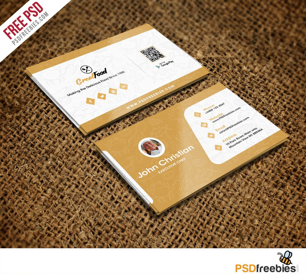 Restaurant Chef Business Card Template Free Psd  Psdfreebies Within Visiting Card Templates Download