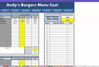 Restaurant Excel  How To Menu Costing  Youtube inside Restaurant Menu Costing Template