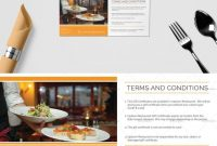 Restaurant Gift Certificate Template  ❱❱ Restaurant Templates intended for Indesign Gift Certificate Template