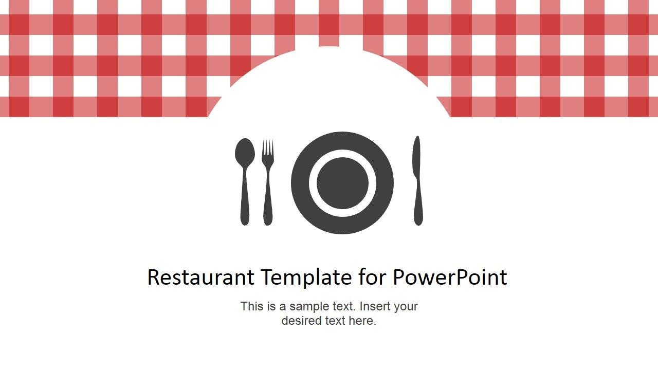 Restaurant Menu Powerpoint Template  Slidemodel Within Restaurant Menu Powerpoint Template