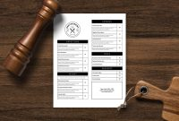 Restaurant Menu Template Menu Design Printable Menu Editable Menu pertaining to Google Docs Menu Template