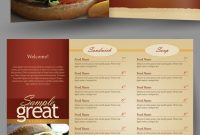 Restaurantcafe Takeout Menu Template On Behance throughout Take Out Menu Template