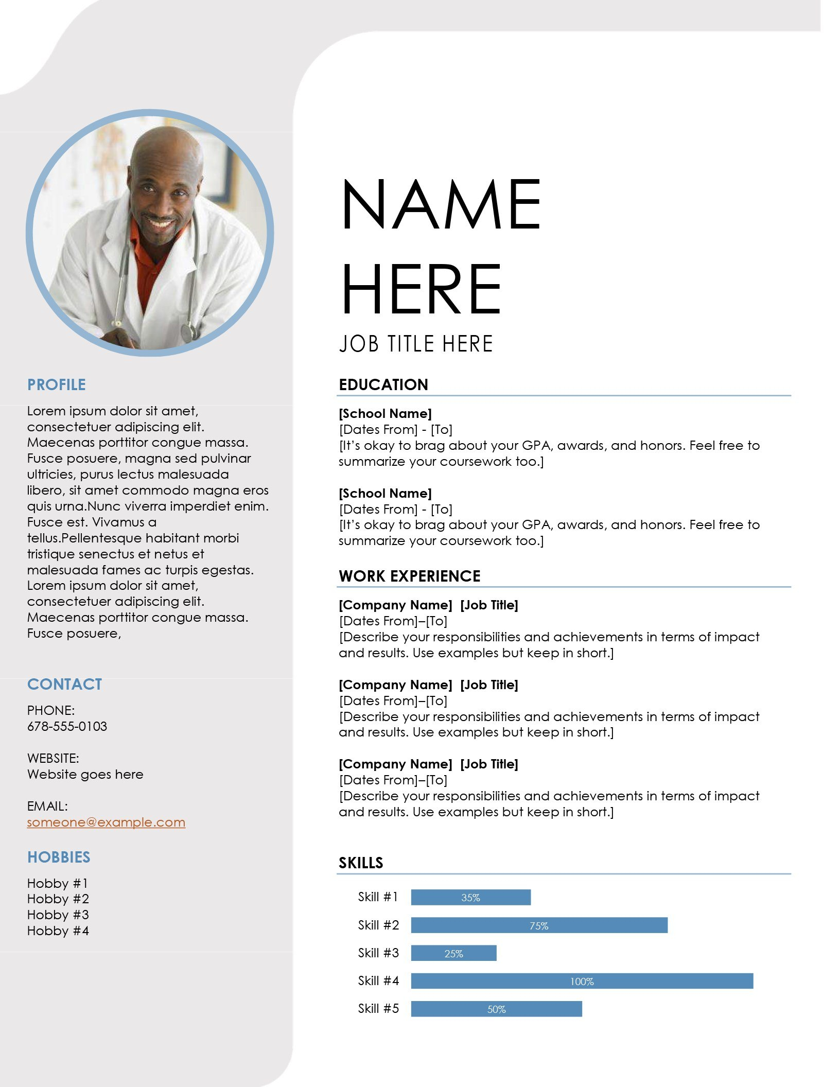 Resumes And Cover Letters  Office Inside Microsoft Word Resume Template Free