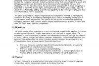 Retail Store Business Plan  Executive Summary  Sample Plan Llc inside Retail Business Proposal Template