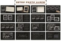 Retro Photo Album Ppt Templateblixa  Studios On Creative Market within Powerpoint Photo Album Template