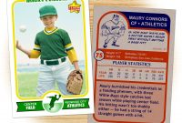 Retro  Series Is The Primary Custom Baseball Card Design Within inside Baseball Card Template Psd