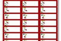 Return Address Labels Template Per T New Free Christmas Label Ss regarding Return Address Labels Template 30 Per Sheet