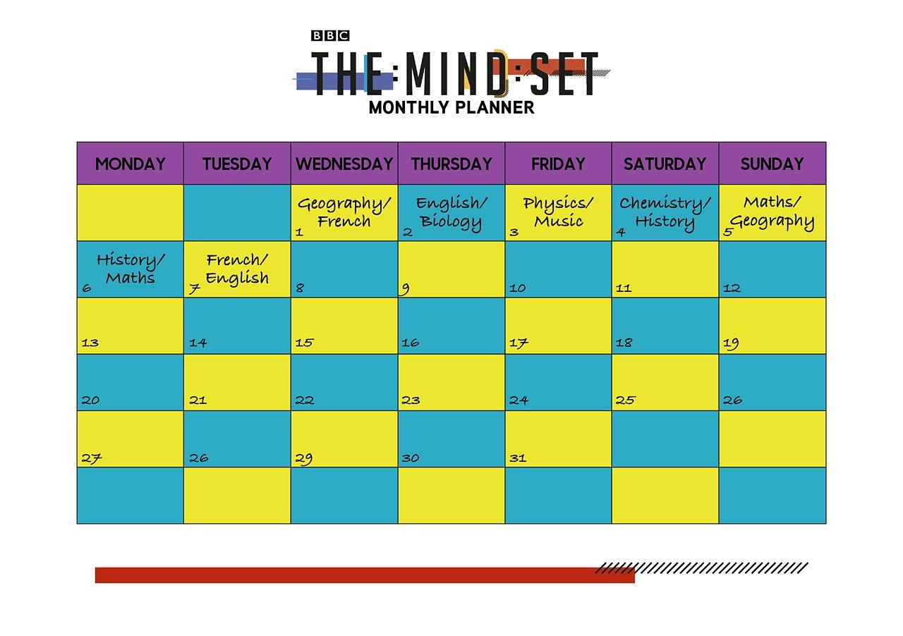Revision Timetables And Planning  Bbc Bitesize Within Blank Revision Timetable Template