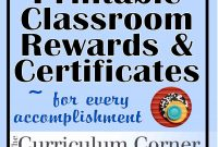 Rewards  Certificates  Wwwthecurriculumcorner  Classroom throughout Classroom Certificates Templates