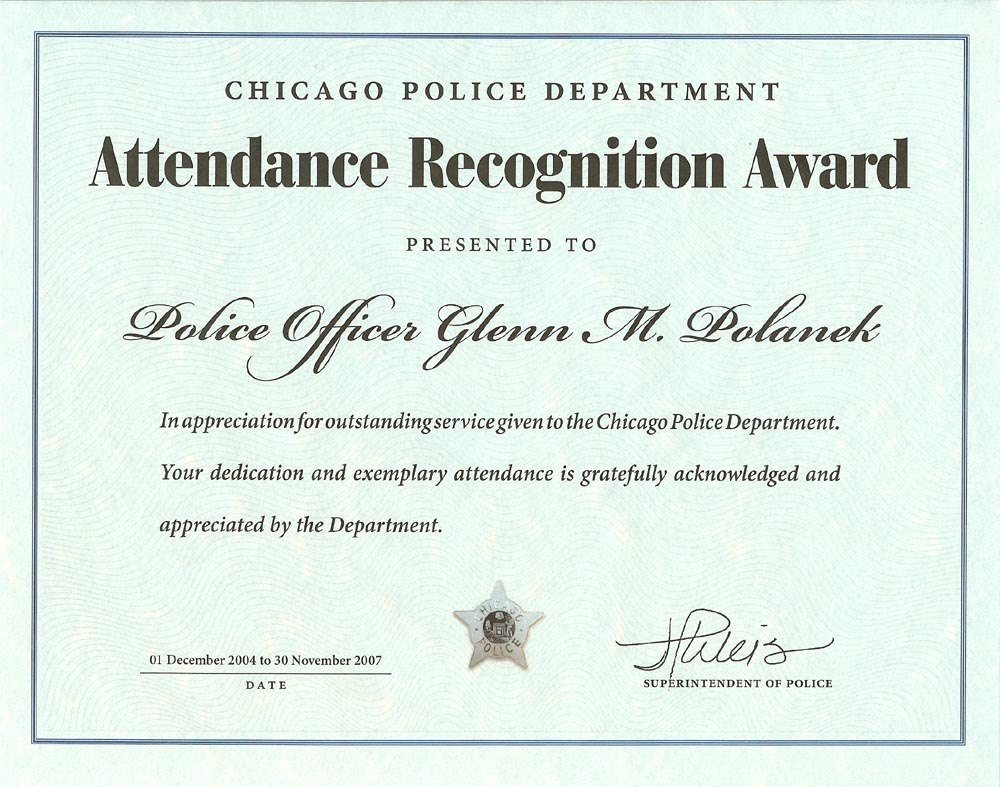 Ribbon Awards  Chicagocop Intended For Life Saving Award Certificate Template