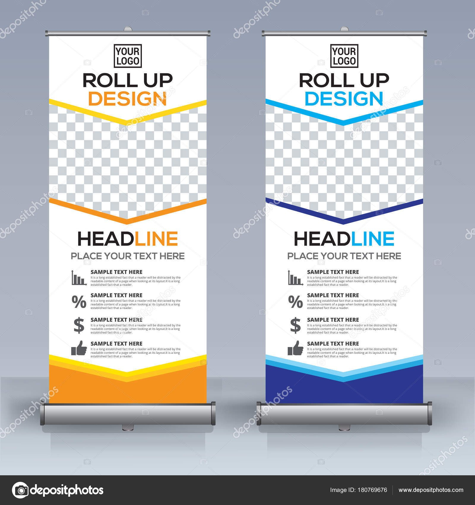 Roll Banner Design Template Vertical Abstract Background Pull Design With Retractable Banner Design Templates