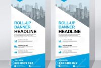 Roll Up Banner Design Template Vertical Abstract Background Pull with regard to Pop Up Banner Design Template