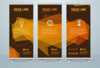 Roll Up Banner Stand Design Template Vector Breathtaking Ideas with Banner Stand Design Templates