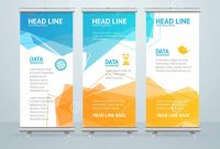 Roll Up Banner Stand Design Vector Stock Vector  Illustration Of within Pop Up Banner Design Template