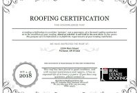 Roof Certification Sample  Real Estate Roofing regarding Roof Certification Template