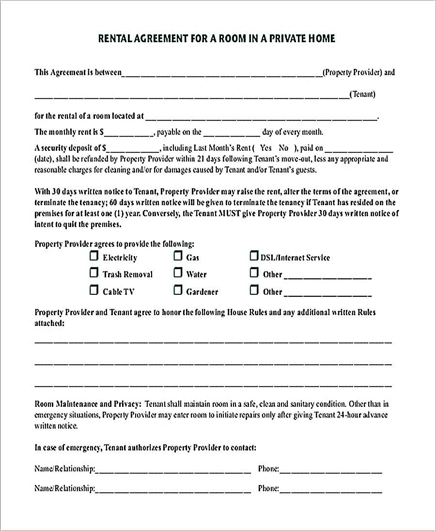 Room Rental Agreement In Private Home Pdf Download   Room Rental Intended For Commercial Kitchen Rental Agreement Template