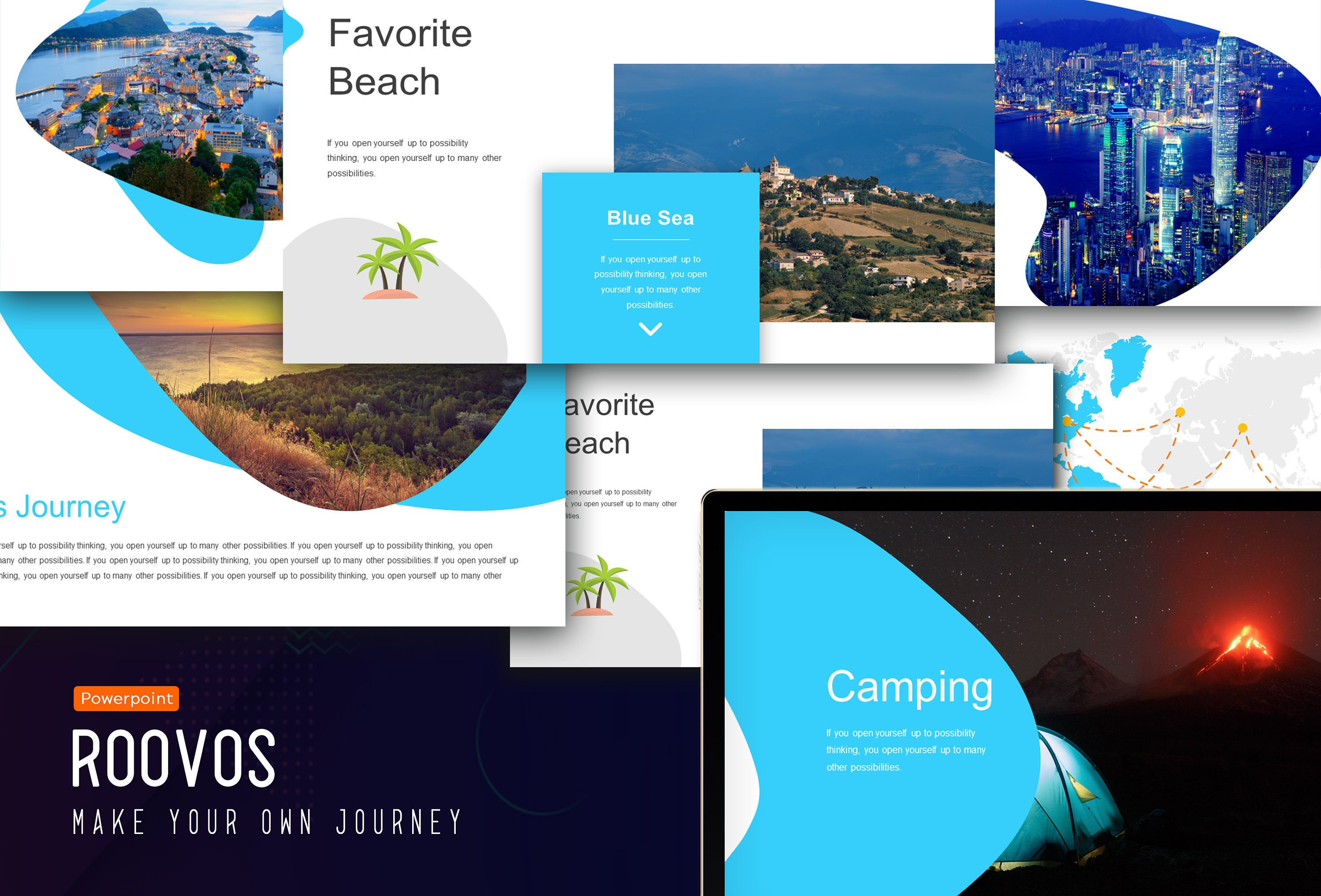 Roovos Travel And Tourism Powerpoint Template Traveling Power  Etsy For Tourism Powerpoint Template