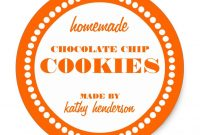 Round Dot Chocolate Chip Cookie Label Template  Diy Label Ideas intended for Round Sticker Labels Template