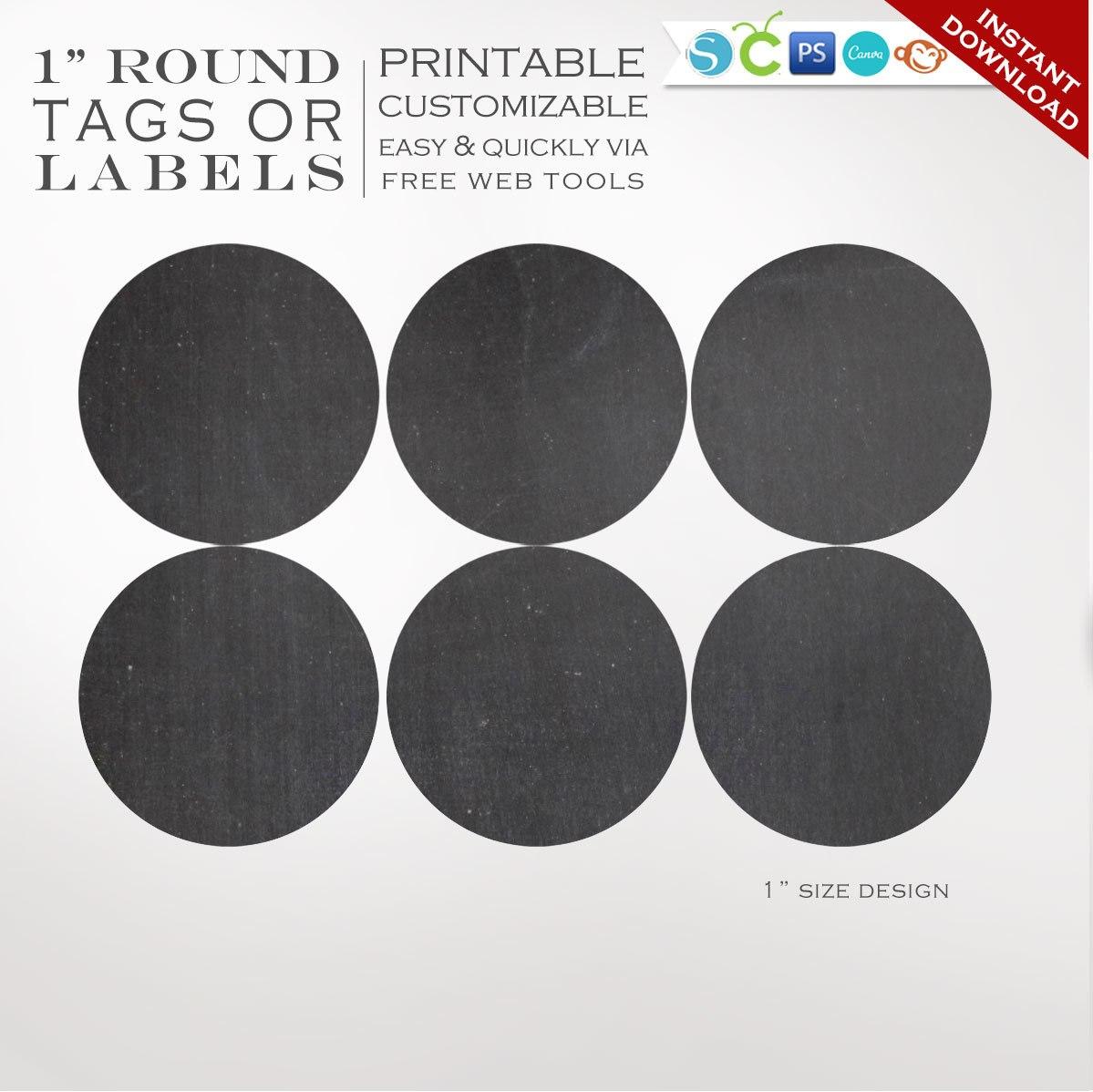 Round Sticker Labels  Inch Round Chalkboard Label Template  Etsy Within Round Sticker Labels Template