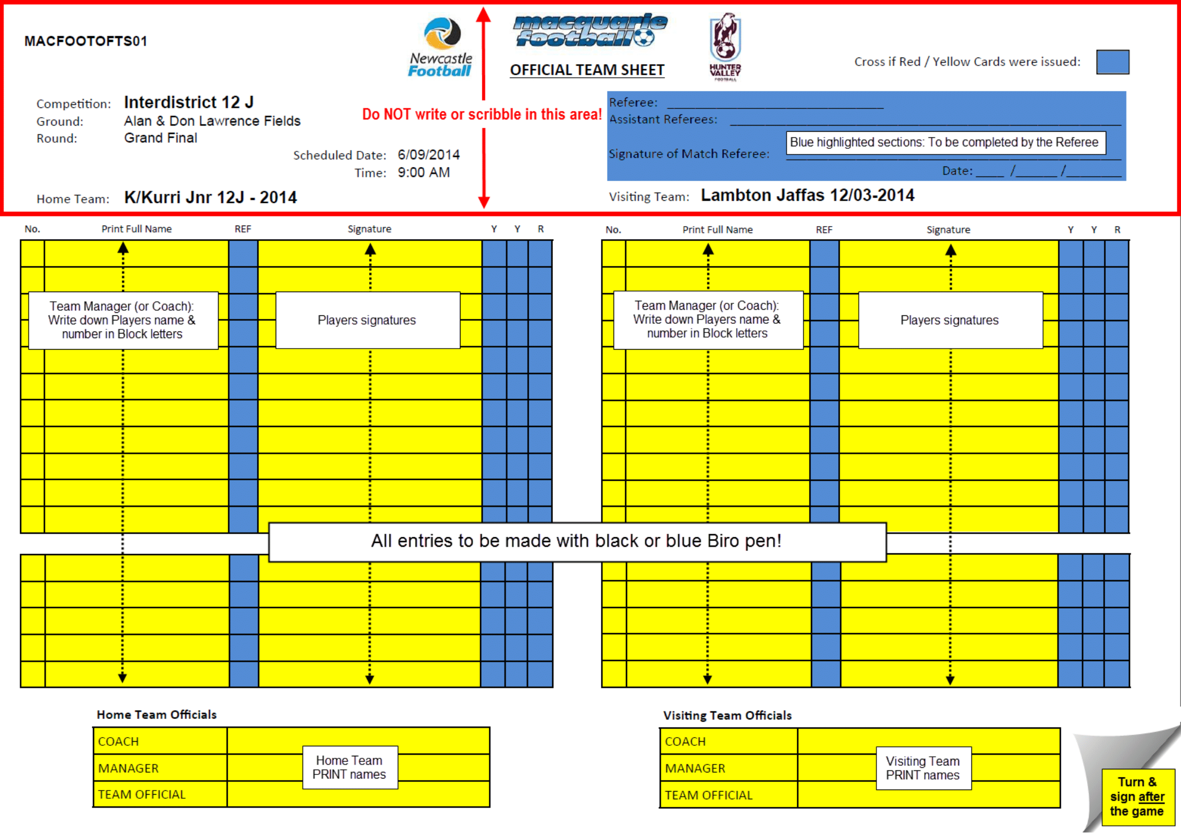 Rules  What Do The Referees Write During The Matches  Sports In Soccer Referee Game Card Template