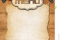 Rustic Menu Template Stock Illustration Illustration Of Cuisine Throughout Empty Menu Template