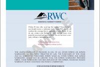 Rwcconversionwarrantys  Rwc Warranty within Limited Warranty Agreement Template