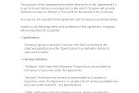 Saas Software As A Service Agreement   Easy Steps with Saas Subscription Agreement Template