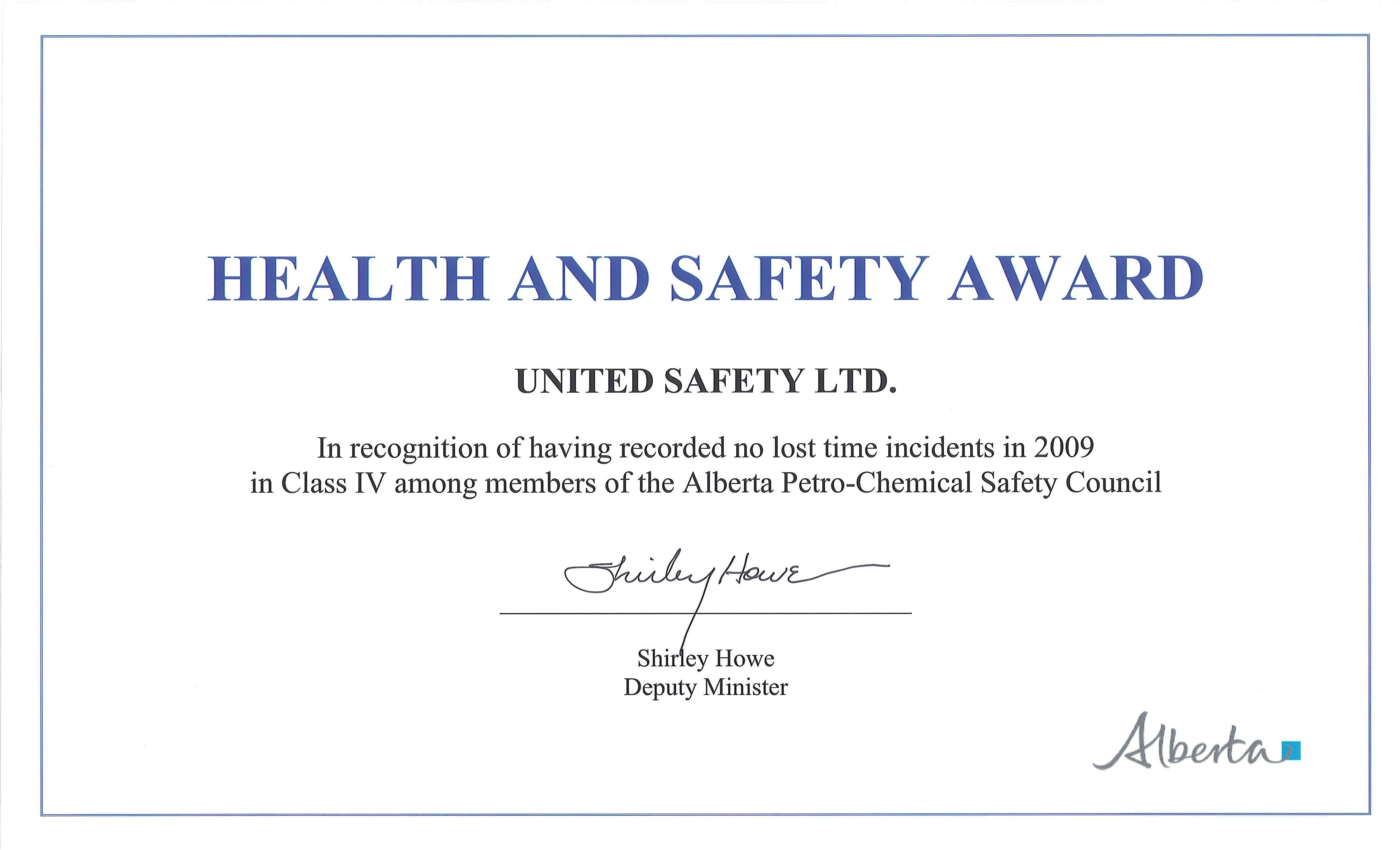 Safety Recognition Award Template – Pazzo In Safety Recognition Certificate Template