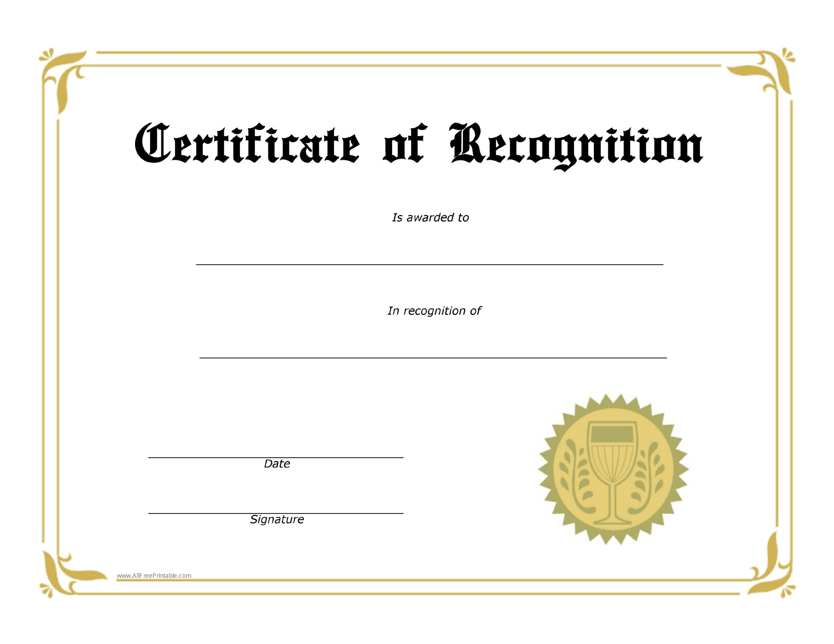 Safety Recognition Certificate Template  Bizoptimizer Regarding Safety Recognition Certificate Template