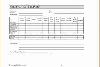 Salesman Visit Report Template  Ningenco within Sales Visit Report Template Downloads
