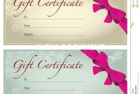 Salon Gift Certificate Templates Template Ideas Printable Free regarding Salon Gift Certificate Template
