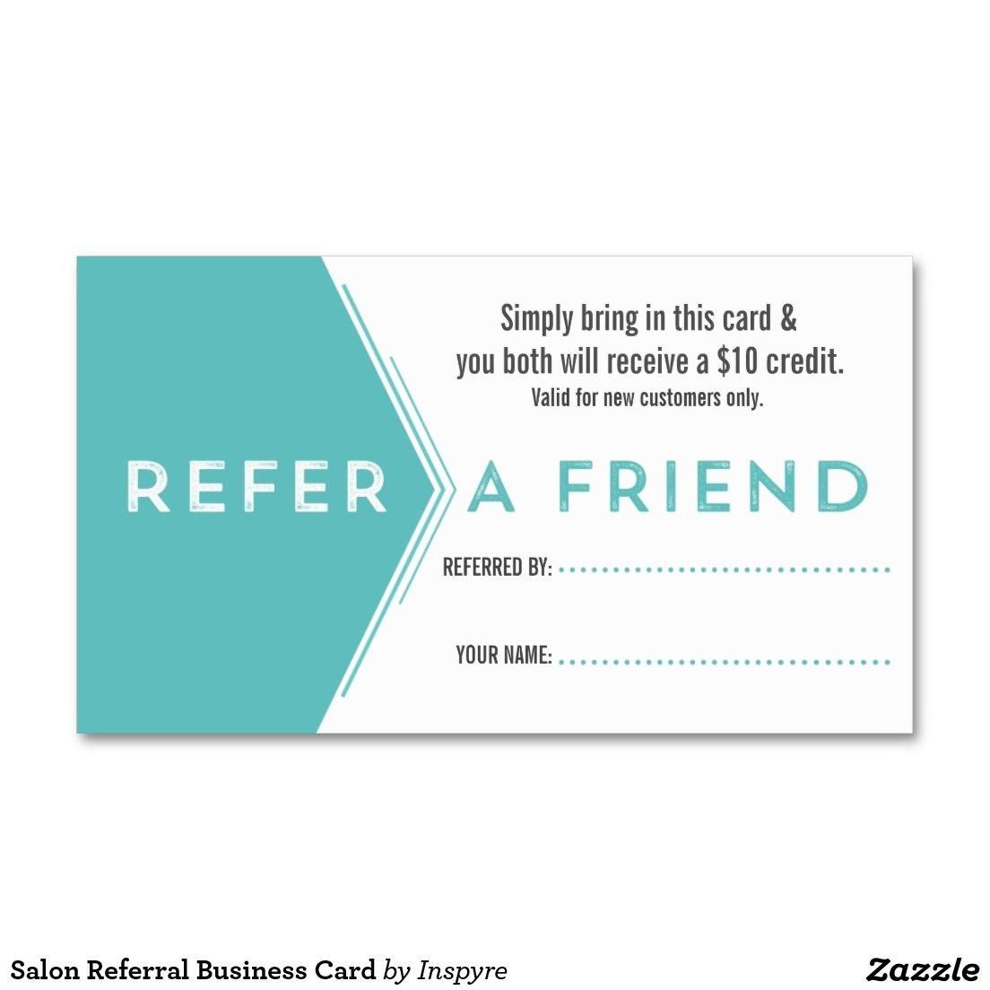 Salon Referral Business Card  Zazzle  Customer Loyalty In Referral Card Template