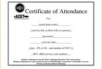Sample Certificate Of Attendance Template  Sansurabionetassociats inside Certificate Of Attendance Conference Template