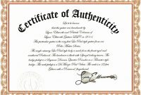 Sample Certificate Of Authenticity Photography Best Of Template Art inside Certificate Of Authenticity Photography Template