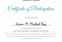 Sample Certificate Of Participation Template In   Searchere throughout Sample Certificate Of Participation Template