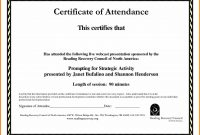 Sample Computer Course Completion Certificate Fres Beautiful within Attendance Certificate Template Word