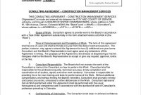 Sample Construction Consulting Agreement   Consulting Agreement within Consulting Service Agreement Template