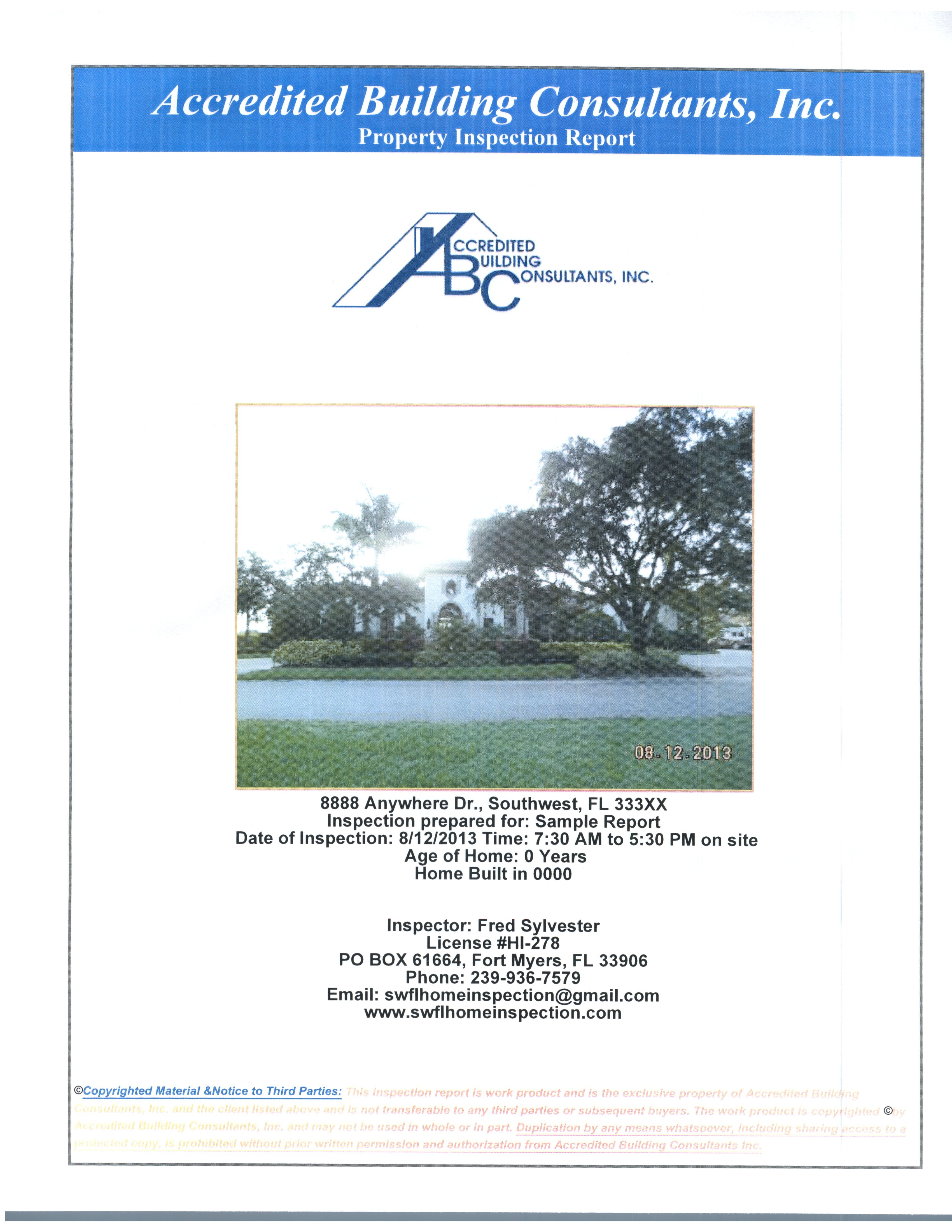 Sample Inspection Reports For Residential And Commercial Properties With Thermal Imaging Report Template