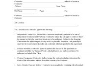 Sample Printable Indep Contractor Agreement  Form  Sample Real within Contract Assignment Agreement Template