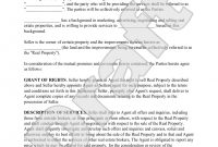 Sample Real Estate Agent Agreement Form Template  Education In for Real Estate Broker Fee Agreement Template