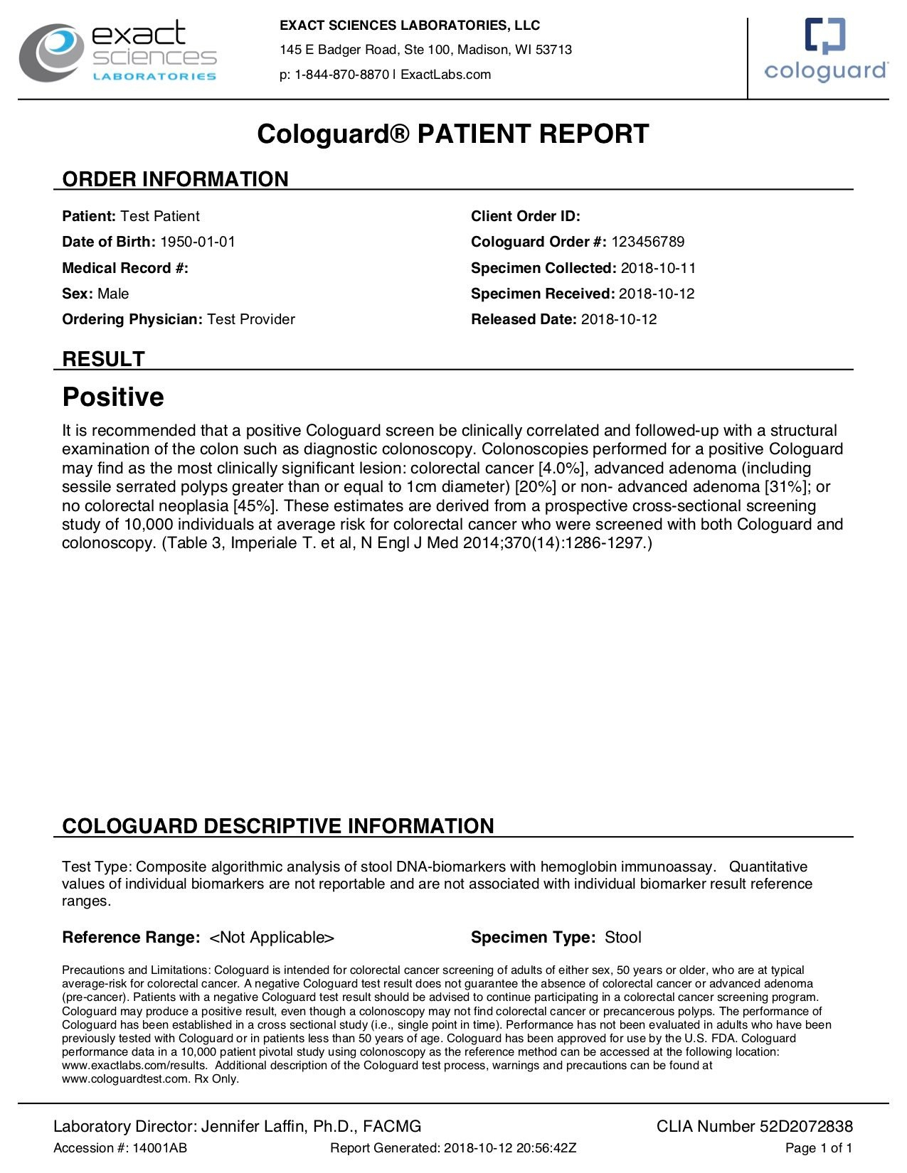 Sample Report Intended For Test Result Report Template