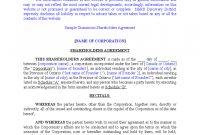 Sample Unanimous Shareholder Agreement Free Download within Unanimous Shareholder Agreement Template
