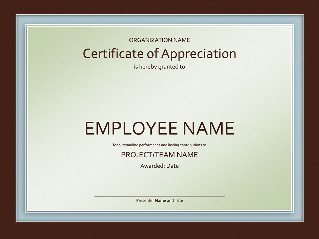 Samples Certificates Of Appreciation With Gratitude Certificate Template