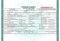 San Francisco Birth Certificate Template  Bah  Birth Certificate in Birth Certificate Fake Template