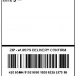 Package Address Label Template