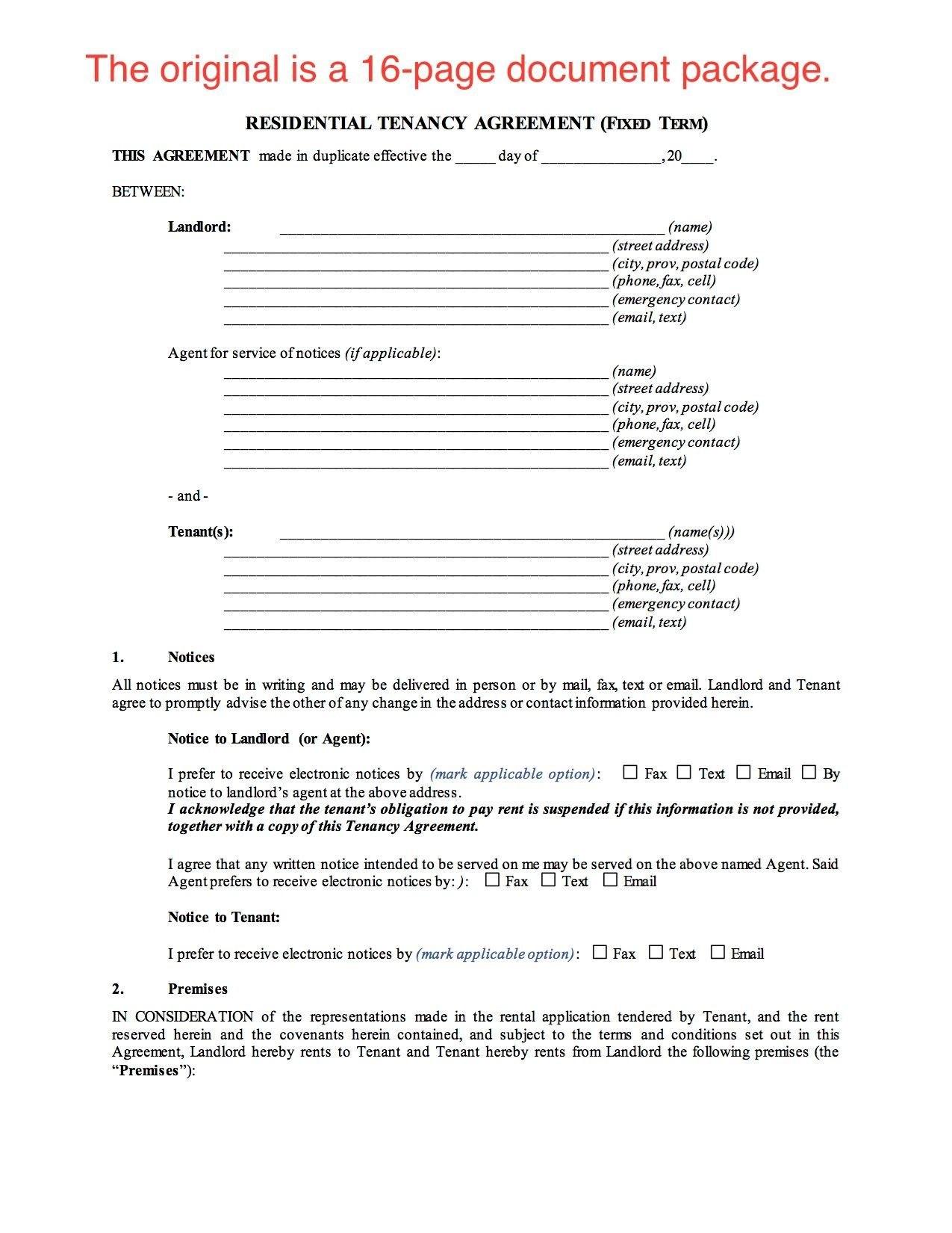 Saskatchewan Residential Fixed Term Lease Or Tenancy Agreement With Fixed Term Tenancy Agreement Template