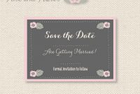 Save The Date Business Event Templates New  Free Save The Date Within Save The Date Business Event Templates
